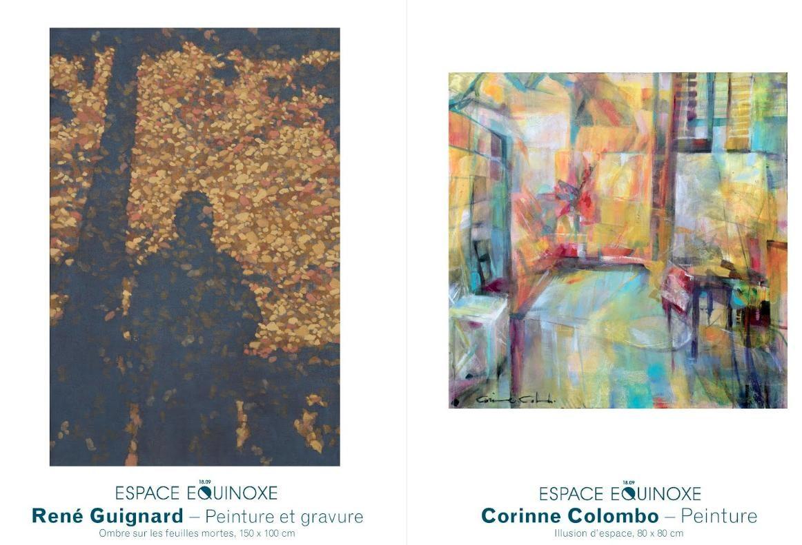 René Guignard et Corinne Colombo - espace Equinoxe